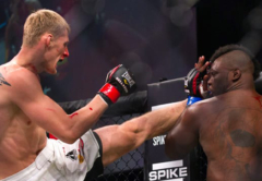 Alexander Volkov executes a stunning kick to the body to Brett Rodgers at Bellator 75