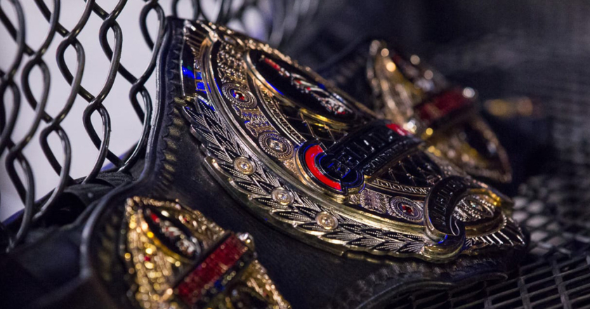 Bellator Featherweight Championship Belt | Photo by JoeyHill.com