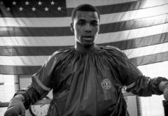 Ed Brown training at the Garfield Park Boxing Gym in Chicago.